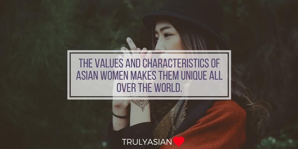 Asian woman values and characteristics