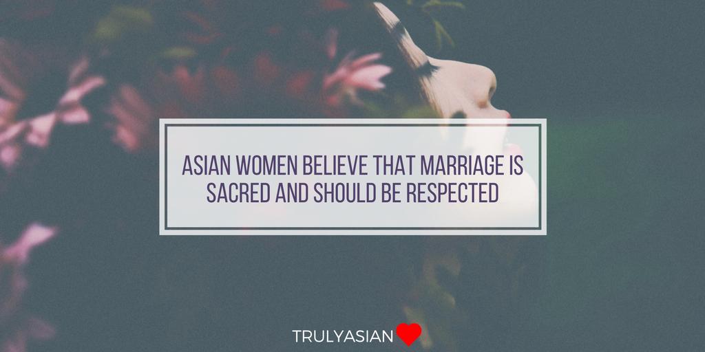 Asian woman religious characteristics