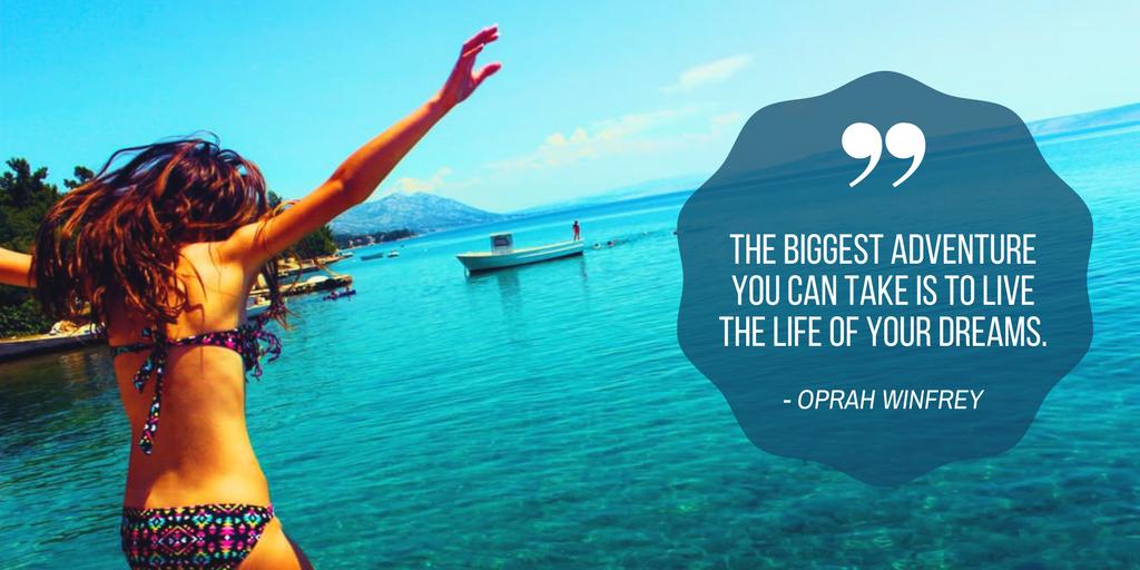 Oprah Winfrey adventure quote