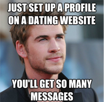a meme on having a good dating profile