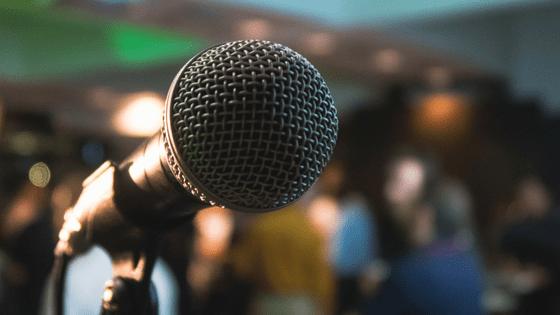 a karaoke mic