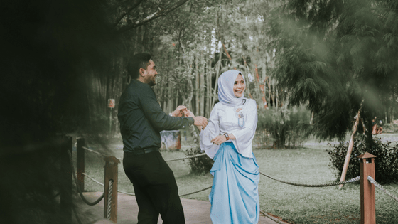 a happy indonesian couple