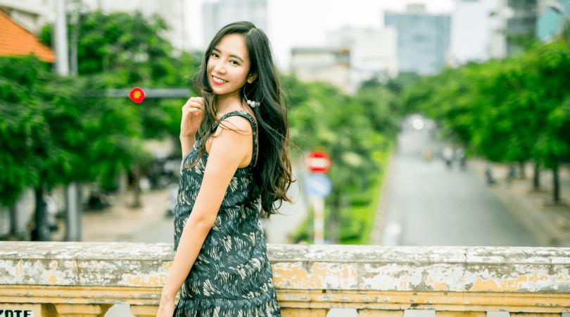 a smilling vietnamese girl