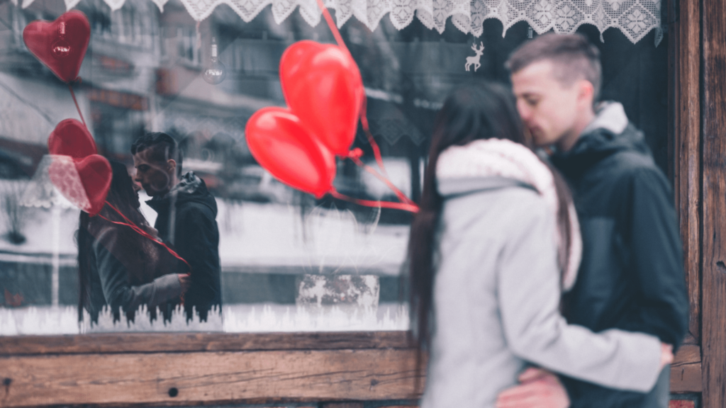 couple on a valentine's date